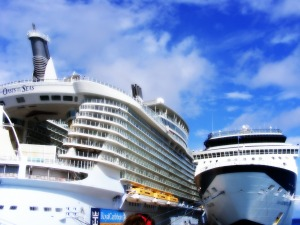 Some cruise ships can carry over 5,000 passengers.