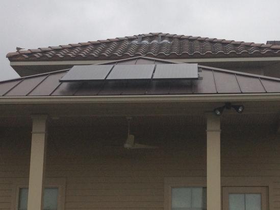 Solar Energy on LaHouse in Baton Rouge, Louisiana