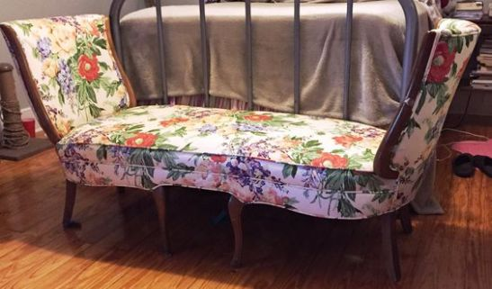 Repurpose two dining room chairs into a bench.